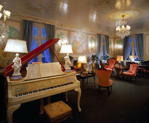 The piano in the drawing room