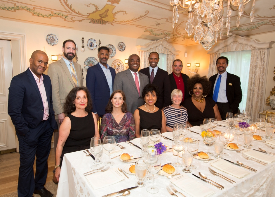 The 2015 Lunt-Fontanne Fellowship Class with Phylicia Rashad in the Dining Room at Ten Chimneys